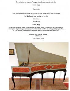 inaugurazione cembalo Lionel Rogg